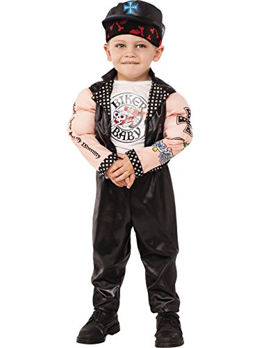Rubies Costume Child's Muscle Man Biker Costume, X-Small, Multicolor