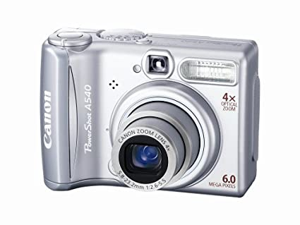 amazon com canon powershot a540 6mp digital camera with 4x optical rh amazon com Canon G7 Canon SX260