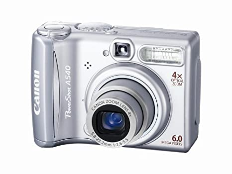 amazon com canon powershot a540 6mp digital camera with 4x optical rh amazon com Canon Waste Toner Canon D60 Review
