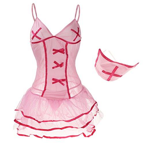 Interior 1x Headwear Adornos Embellecedor Diseño 1x Ropa Falda Briefs DOLITY Único D rosado x6wEHq0q