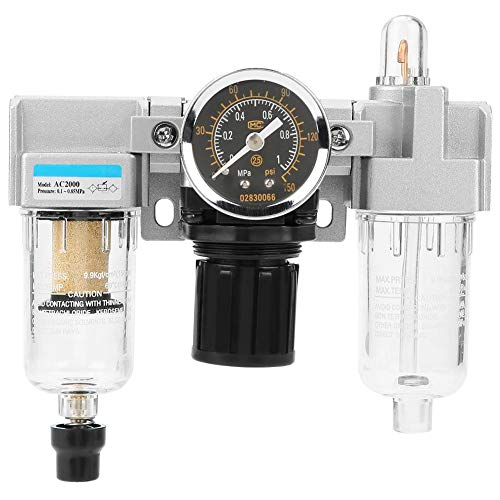 Air Filter Pressure Regulator Gauge, G1/4 Air Filter Pressure Regulator Air GasFilter Pressure Regulator Combo, Compressed Air Gas Filter Regulator: Amazon.co.uk: DIY & Tools