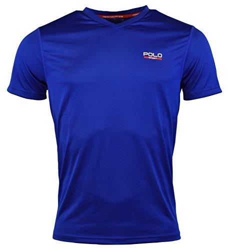 Ralph Lauren Polo Sport Mens Performance V-Neck Graphic T-Shirt - S - Sapphire Star