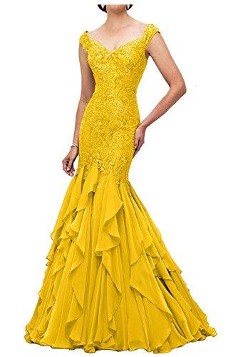 Lawender Etuikleider Braut mia Ballkleider Gelb Meerjungfrau Lang Spitze Abendkleider La Brautmutterkleider Abschlussballkleider 7tTxwqvvHg