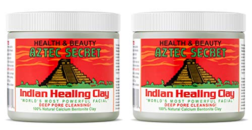 Aztec Secret Indian Healing Clay 1 Pound (Pack of 2) (Top 10 Organic Cosmetic Brands In India)