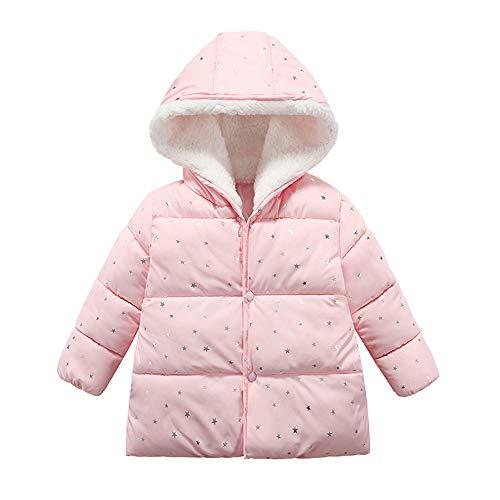 Londony ♪❤ Clearance Sales,Baby Unisex Hooded Winter Jacket Toddler Girls' Boys Fleece Lined Dot Puffer Jacket Coat