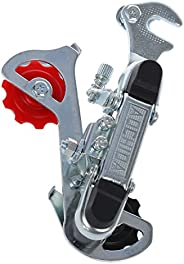 Bopfimer Racing Bicycle Part Silver Tone Metal 3-7 Speed Rear Derailleur