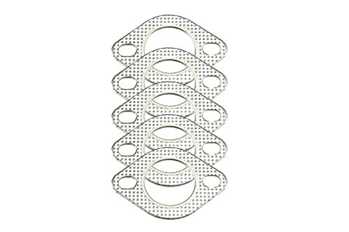 """CarXX 2"""" Exhaust Gasket 2-Bolt 51mm Flange High Temperature Graphite for Headers, Catback, Axleback, Downpipe (5 Pack)"""
