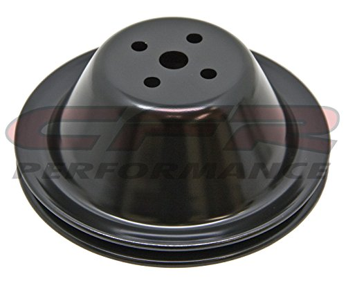 (1955-68 Compatible/Replacement for CHEVY SMALL BLOCK EDP BLACK STEEL WATER PUMP PULLEY - SHORT (1 GROOVE))