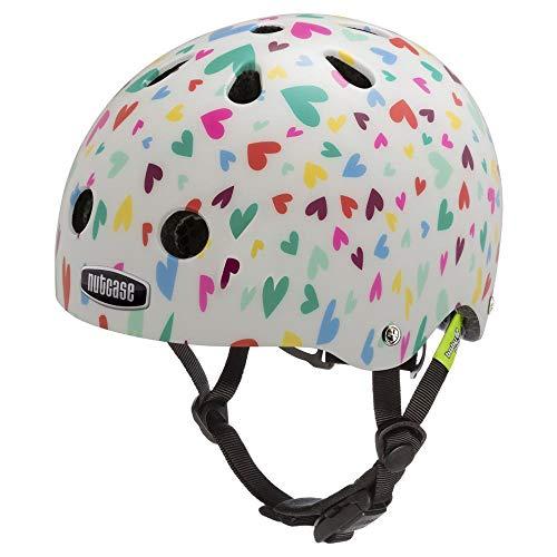 Nutcase - Little Nutty Bike Helmet for Kids, Happy Hearts