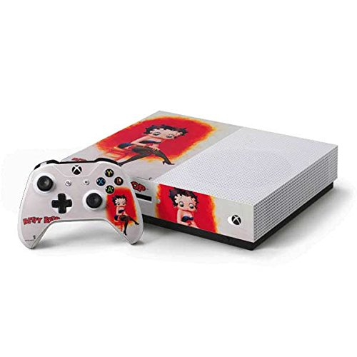 (Betty Boop Xbox One S Console and Controller Bundle Skin - Betty Boop Stockings | Cartoons & Skinit Skin)