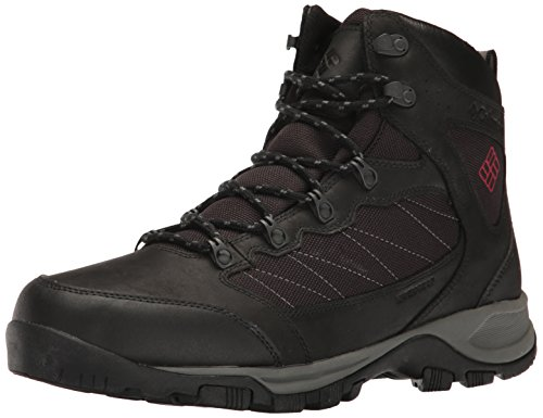 Columbia Men's Cascade Pass Waterproof Hiking Shoe, Black, Mountain Red, 10 D US by Columbia