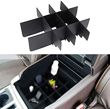 Center Console Organizer Tray Armrest Storage Box for Ford F-150 F150 2015-2018