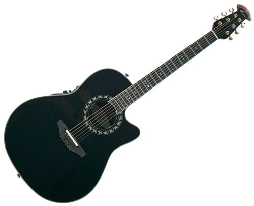 Ovation AX Series 2077AX-5 Acoustic-Electric Guitar, Black -