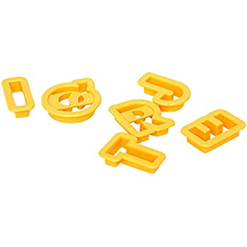 2 alphabet cookie cutter set of 26 pieces plastic orange by topenca supplies
