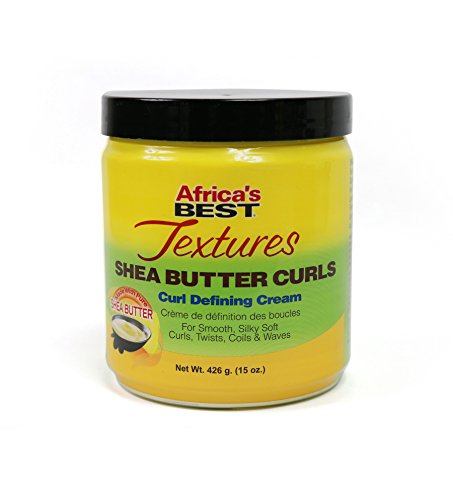 Africa's Best Textures Shea Butter Hair Curl Defining Crème, Reduces Frizzing, Seals and Repairs Hairs Split Ends, 15 Ounce Jar (Africa's Best Super Gro White Hair)