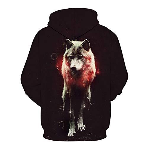 Sudadera Animal 378 Hoddie Wolf Lmwy Para Hoodies Eagle Nube Ropa Hombres Bolsillo xqOzfwU