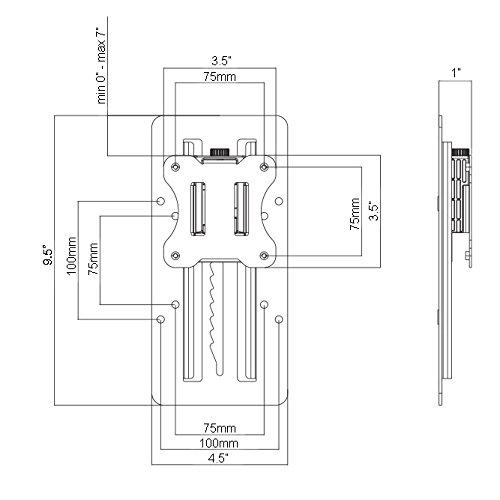 VIVO Height Adjustable VESA Adapter Accessory Bracket Kit Individual Monitor 13'' to 27'' Screens (Stand-VAD3) by VIVO (Image #6)