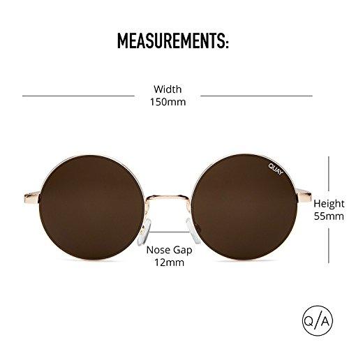 Quay Eyewear Damen Sonnenbrille Electric Dreams, Rosa (Rose/Brn), One size (Herstellergröße: Einheitsgröße)