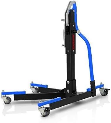 Center Paddock Stand Lift ConStands Power Evo for Kawasaki ZX-6R 03-06 blue