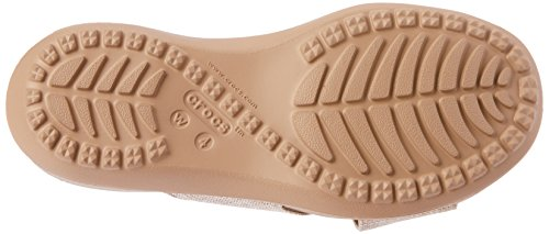 Crocs Capri Shimmer Xband Women, Sandales Bout Ouvert Femme, Noir Blanc (Oyster/Cobblestone 1c4)