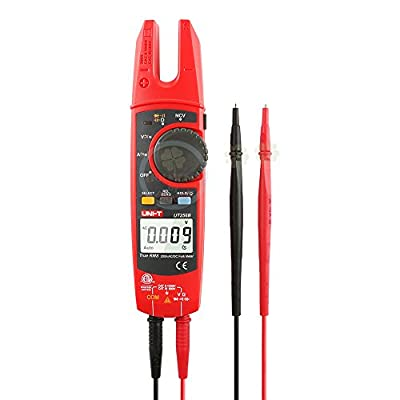 UNI-T UT256B Ture RMS Digital Clamp Fork Meter Multimeter AC/DC Voltage Current Resistance Capacitance NCV Test Backlight