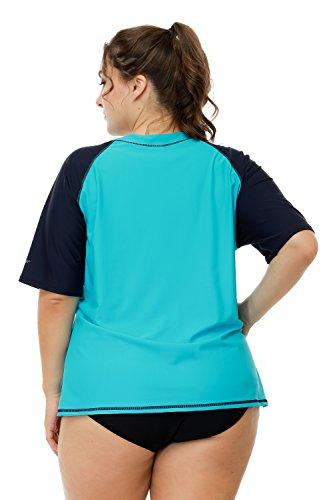 441fecff210 vivicoco Women s Plus Size Rash Guard Short Sleeve Swim Shirt Rashguard  Swimsuit