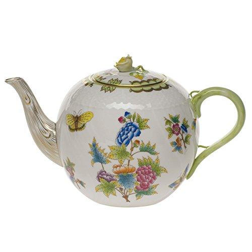 Herend Queen Victoria Tea Pot With Rose