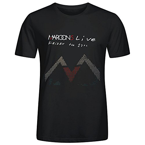 Shirt Maroon Axl (Maroon 5 Friday The 13th T Shirt Mens Black)