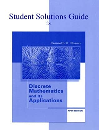 discrete mathematics and its applications student solution manual rh amazon ca discrete mathematics rosen solution manual discrete mathematics rosen solution manual