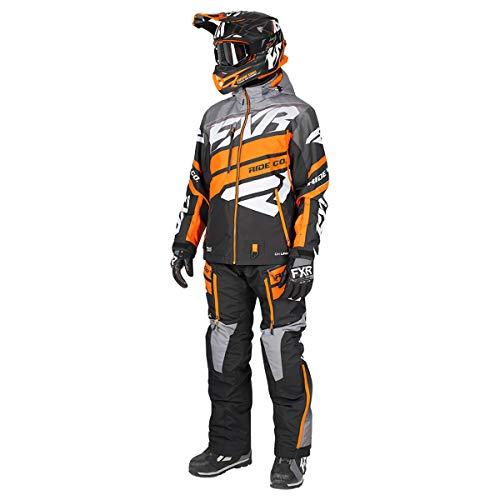 FXR Boost Dri-Link 2PC Lite Monosuit - Orange/Grey/Black - LRG (Snowmobile Pants Fxr)