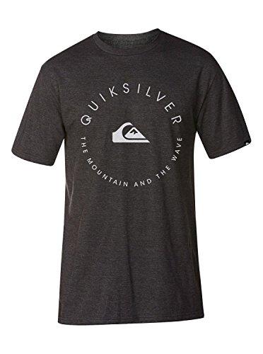 (Quiksilver Men's Good Circle Mt4 Zn6 Screen T-Shirt, Charcoal Heather, Medium)