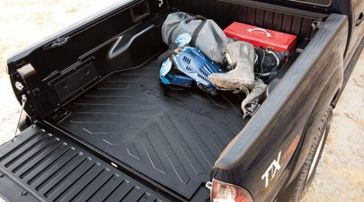 Rubber Bed Mat - Toyota Accessories PT580-35050-SB Bed Mat for Short Bed Tacoma Models