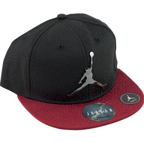 Nike Air Jordan Retro Elite Elephant Print Court Cap Black Red Snapback Hat Youth 8-20