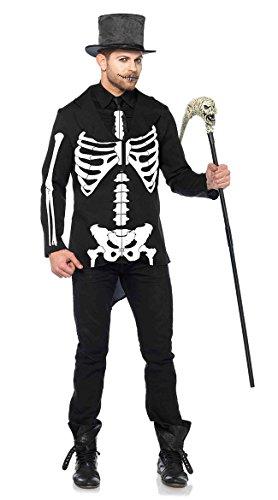 Leg Avenue Men's Bone Daddy Skeleton Costume, Black/White Medium for $<!--$25.97-->