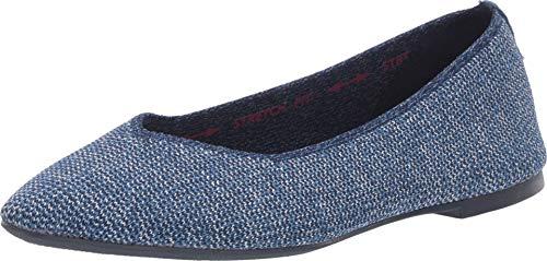 Skechers Women's Cleo-Heathered Engineered Knit Skimmer Ballet Flat