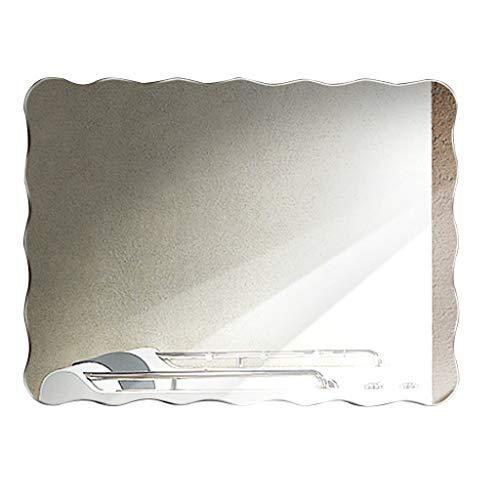 ZHAS Wall-Mounted Bathroom Mirror Makeup Shaving Hallway Mirror Frameless Bevelled Glass Mirror -