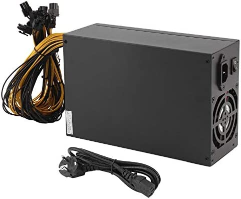 Pukido 1800W Server PSU Power Supply 6PIN Mining Machine Power Supply For Antminer S7 S9 A6 A7 L3 R4 High Efficiency – (Plug Type: EU)