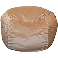 Ahh! Products Cuddle Minky Tan Washable Large Bean Bag Chair