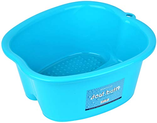Mantello Foot Wash Basin Foot Spa Bucket Foot Soaking Tub, Pedicure, Detox, Massage (Blue, Large) ()