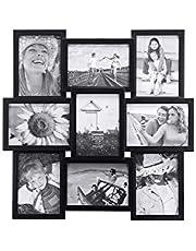 Malden International Designs Crossroads Puzzle Collage Picture Frame, 9 Option, 9-5x7, Black - 2119-957