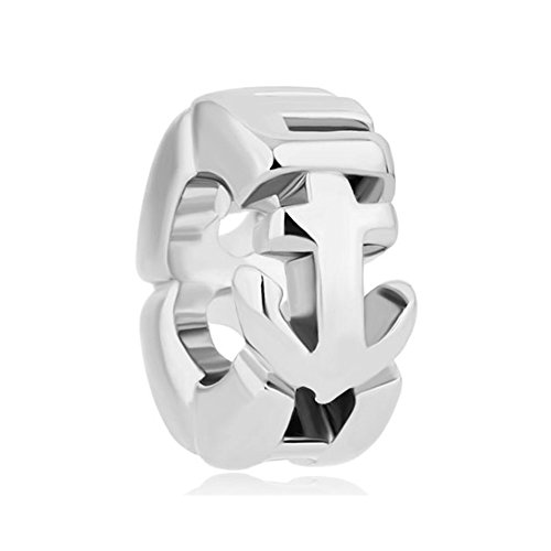 LovelyJewelry Anchor Silver Plated Bracelet product image