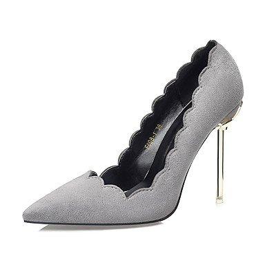 RTRY Zapatos De Mujer Suede Otoño Invierno Confort Tacones Stiletto Talón Señaló La Convergencia Para El Vestido Caqui Luz Rosa Verde Gris Negro US7.5 / EU38 / UK5.5 / CN38