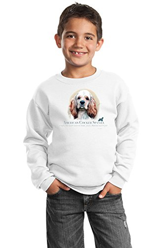 Cocker Spaniel Youth Sweatshirt by Howard Robinson