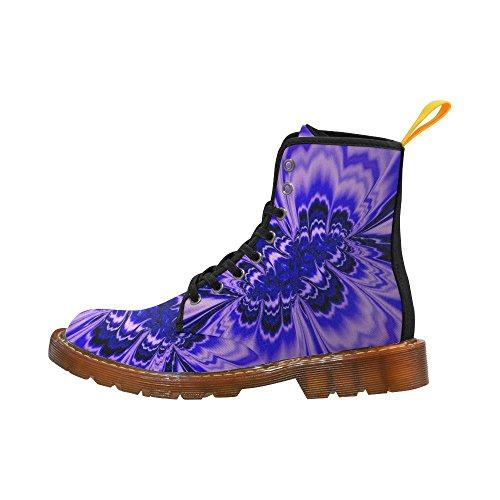 Leinterest Amazing Fractal Blue Martin Boots Fashion Shoes Voor Dames