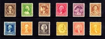 U.S. Postage Stamps: 1932 George Washington Bicentennial Complete Collection; Scott #s 704, 705, 706, 707, 708, 709, 710, 711, 712, 713, 714, 715