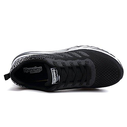 Hommes Blanc Course Sportifs Noir Femmes De Fitness Baskets Entraneurs Chaussures Marche rwvrxqO