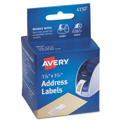 ls, Address, 1-1/8 x 3-1/2, White, 260 Labels/Box, Sold as 2 Roll ()