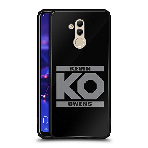 Official WWE KO Fight Kevin Owens Black Hybrid Glass Back Case Compatible for Huawei Mate 20 Lite ()