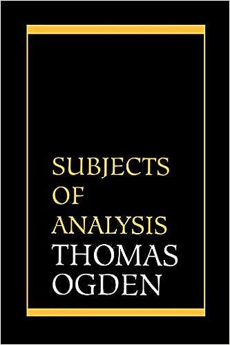 amazon subjects of analysis thomas h ogden psychotherapy ta