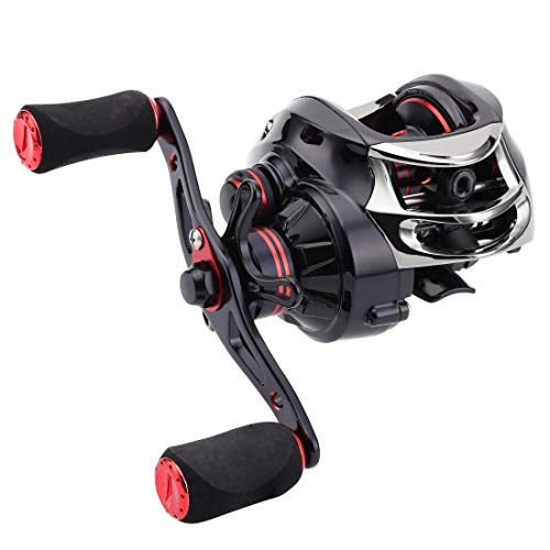 SeaKnight Viper Baitcasting Fishing Reel 11 1 Shielded Bearings 6.3 1 7.0 1 Hight Gear Ratio Double Brake System 16.5 Lb Carbon Fiber Drag